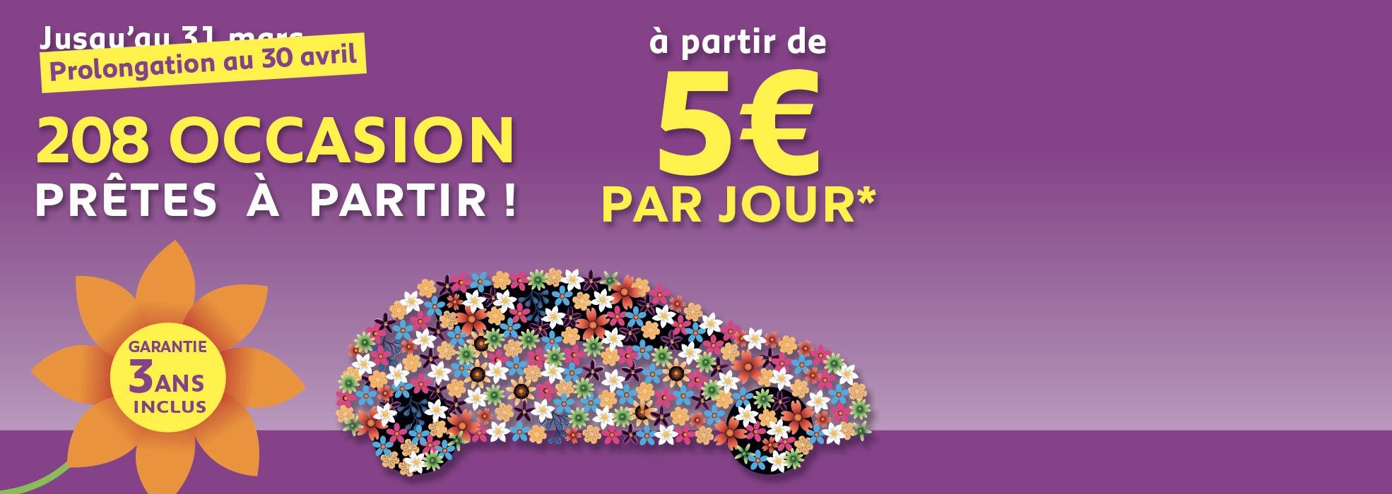 208 LIKE 5 EUROS / JOUR