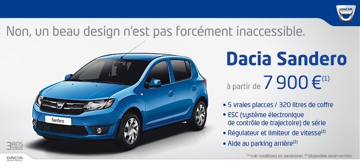 Offre véhicules neufs Dacia
