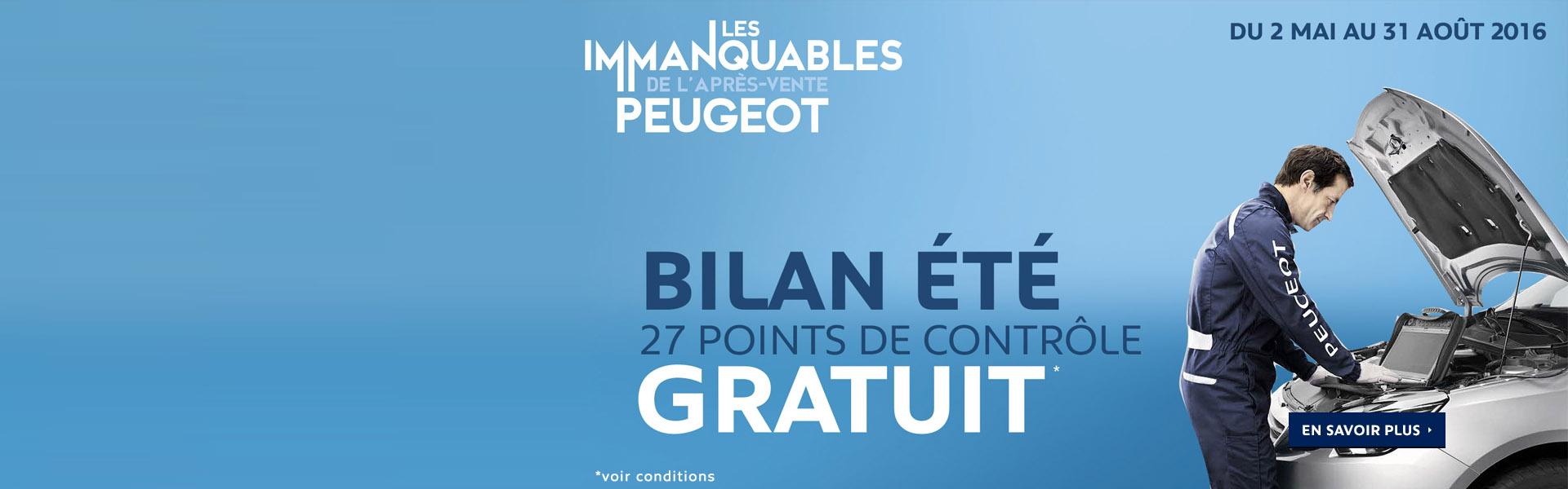 Bilan été Gratuit Peugeot