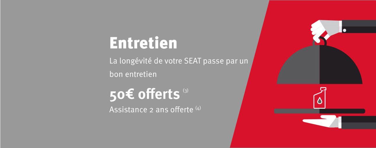 Entretien : 50€ Offerts