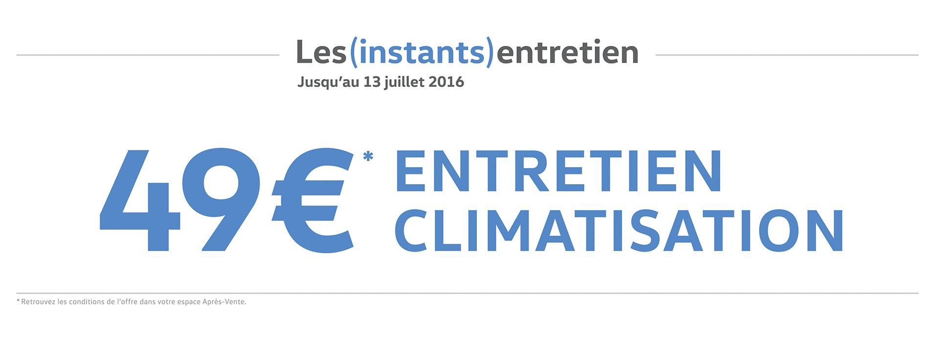 Forfait climatisation Volkswagen Chartres