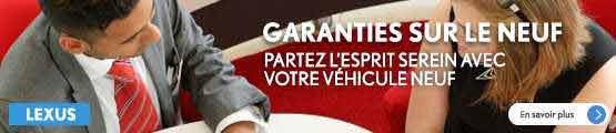 Garanties neuf GTA Lexus