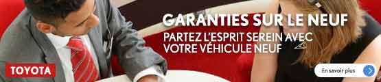 Garanties neuf GTA Toyota
