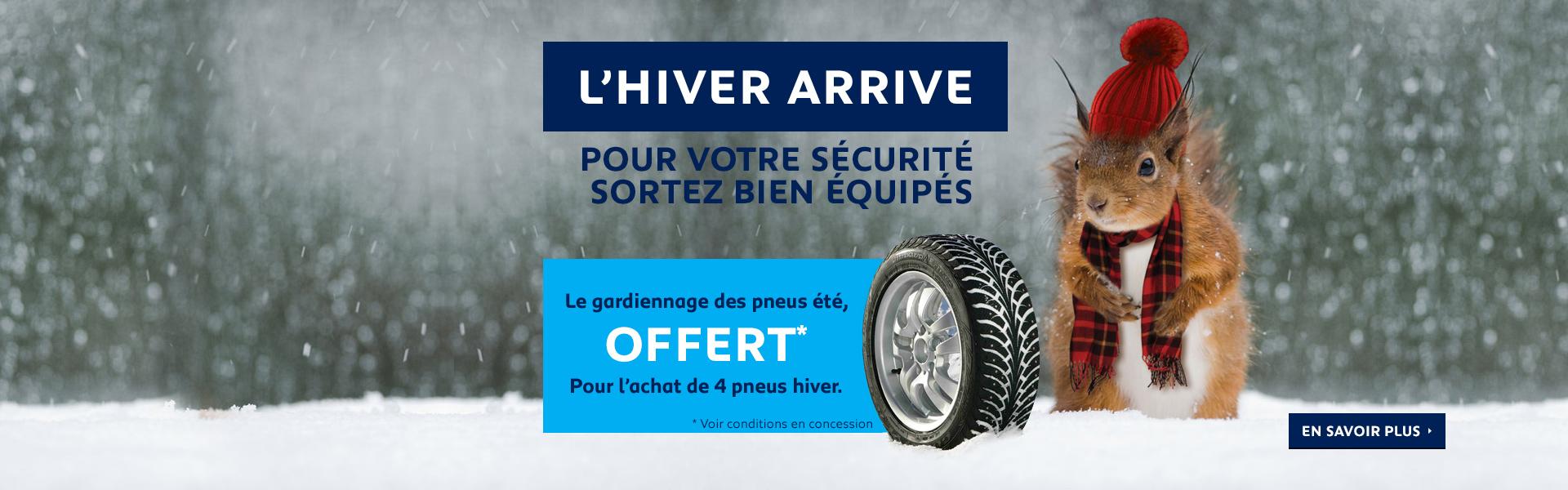Gardiennage pneus