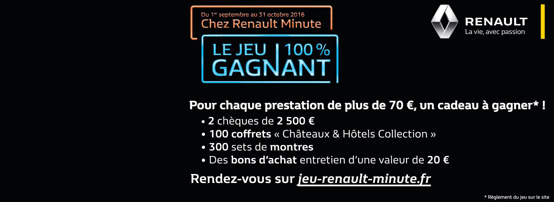 Jeu Renault Minute