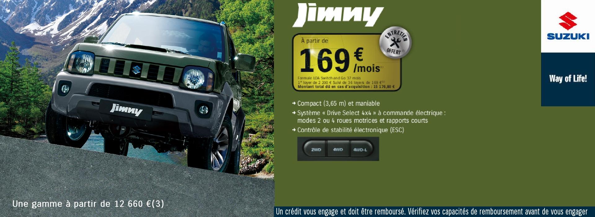 Jimny l'authentique 4x4