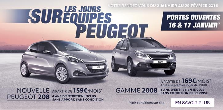 Jours SURéquipés Peugeot