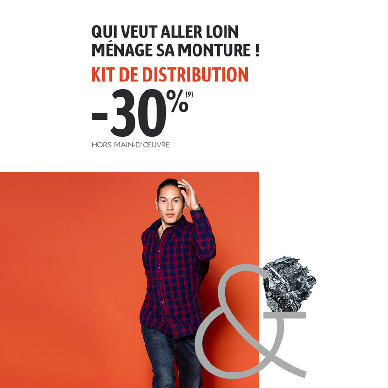 Main banner 30% sur le kit de distribution