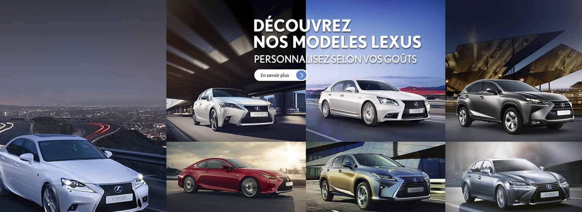 Nos modèles Lexus
