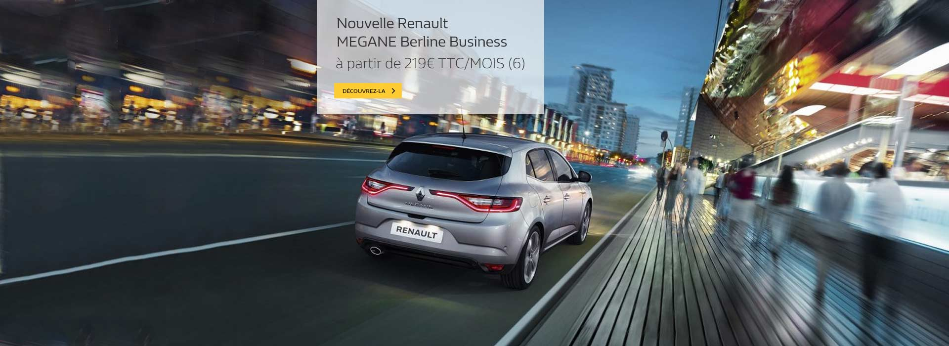 Nouvelle Renault MEGANE Berline Business