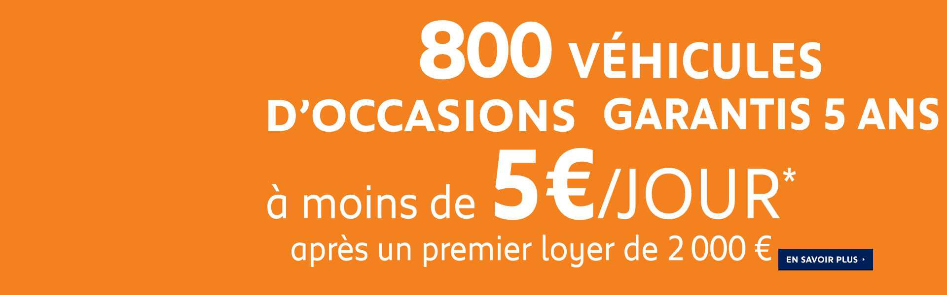 Offre 800 Vehicules