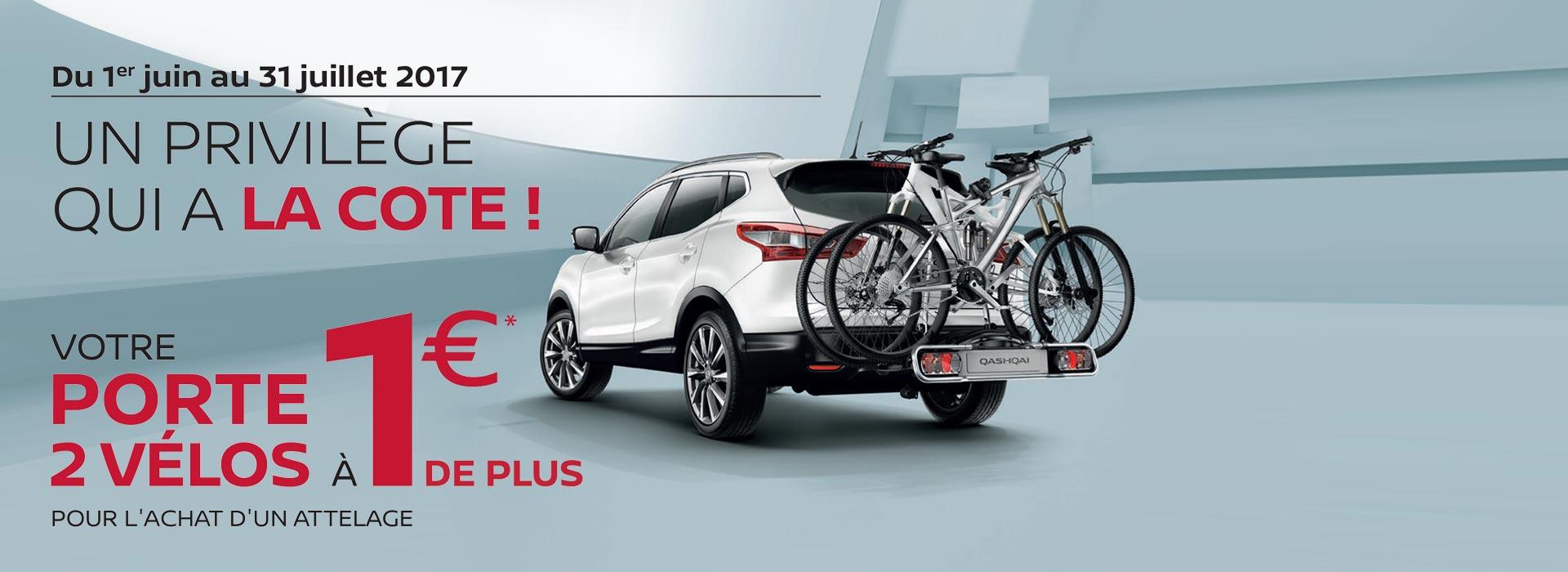 Offre Porte 2 vélos à 1 €