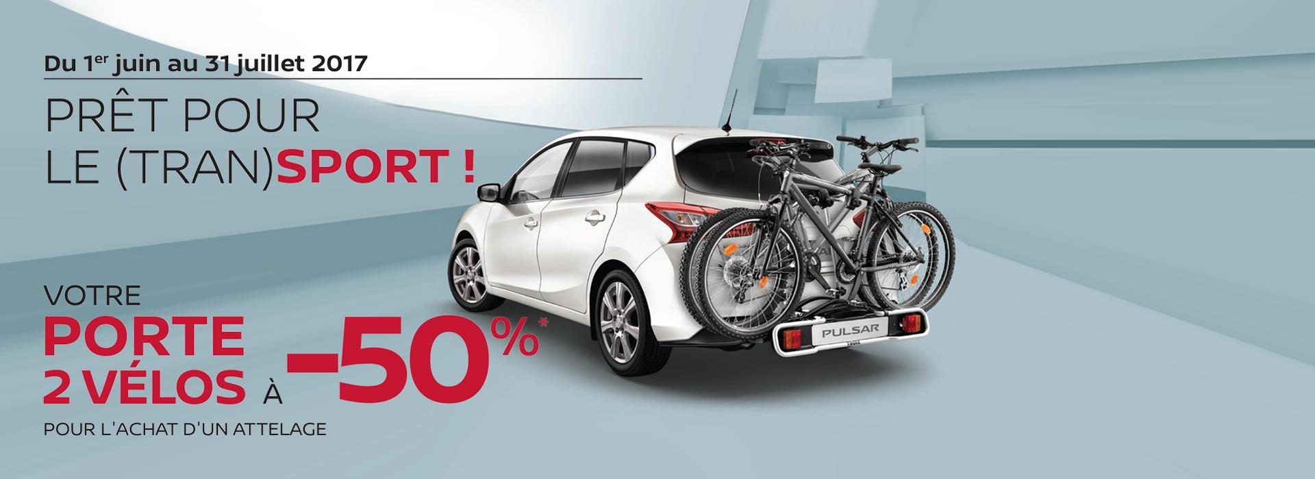 Offre Porte 2 vélos à 50%
