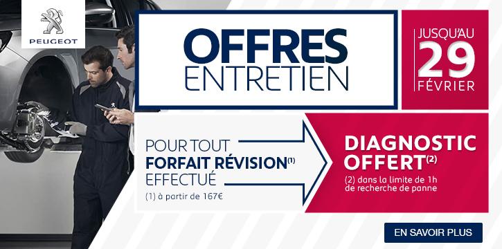 Offres Entretien Peugeot
