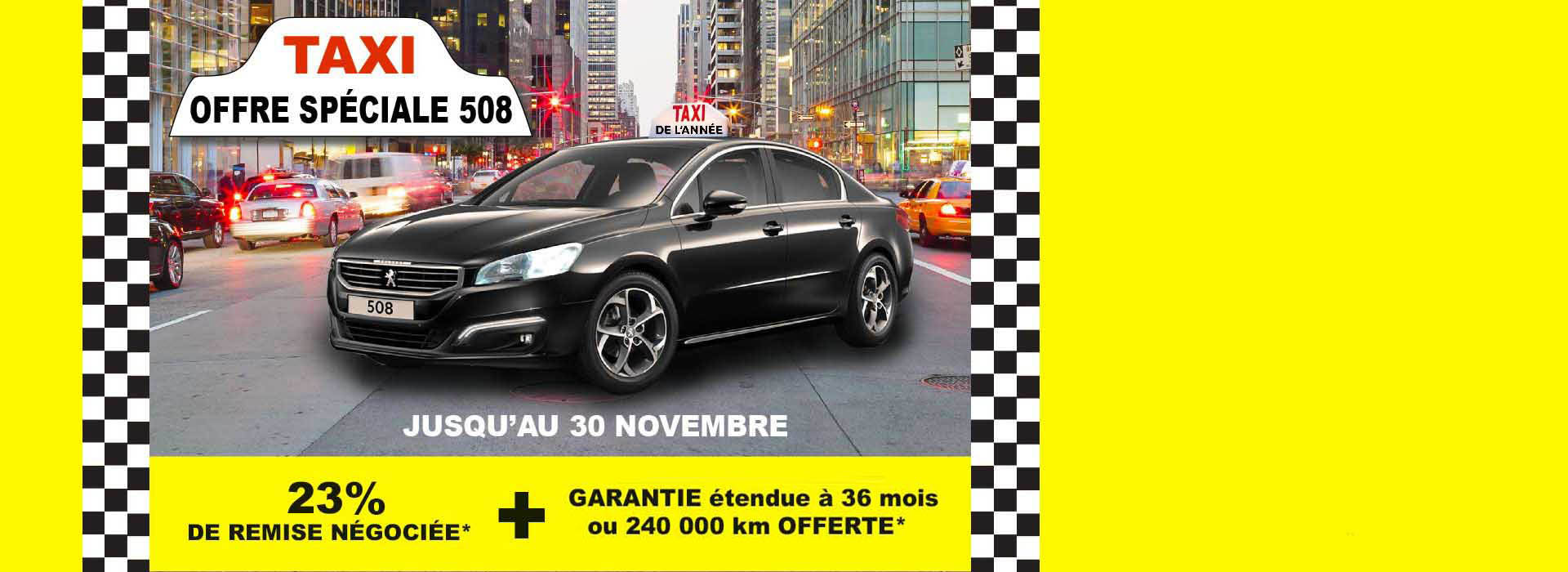 OFFRE SPECIALE TAXI