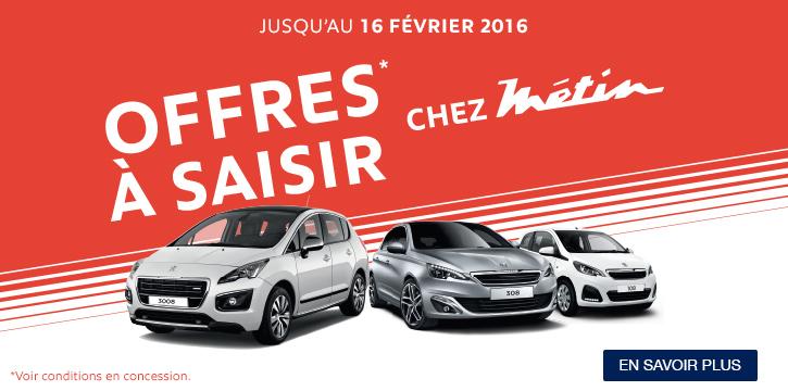 Offres à saisir Peugeot