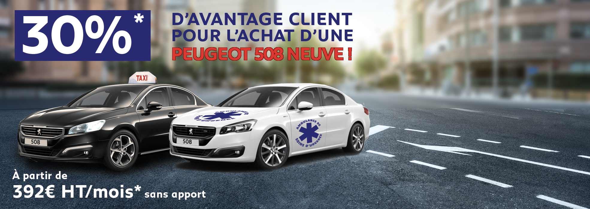 Offre taxi pour l'achat d'une Peugeot 508