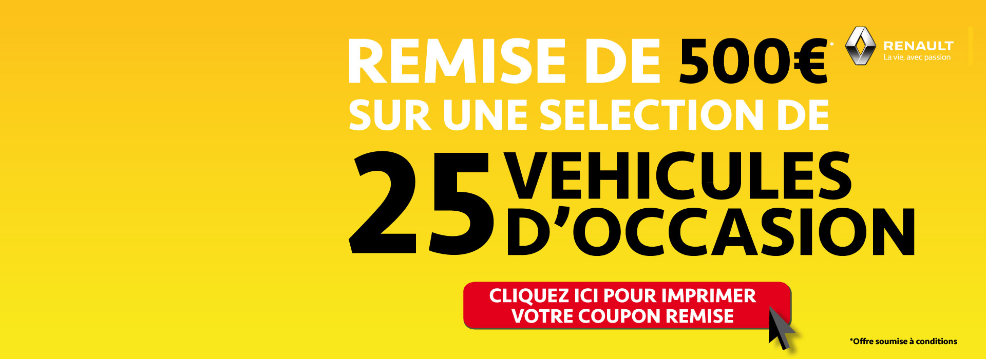 Offre Véhicules d'occasion