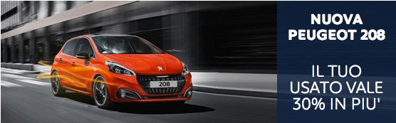 Peugeot 208 in promozione
