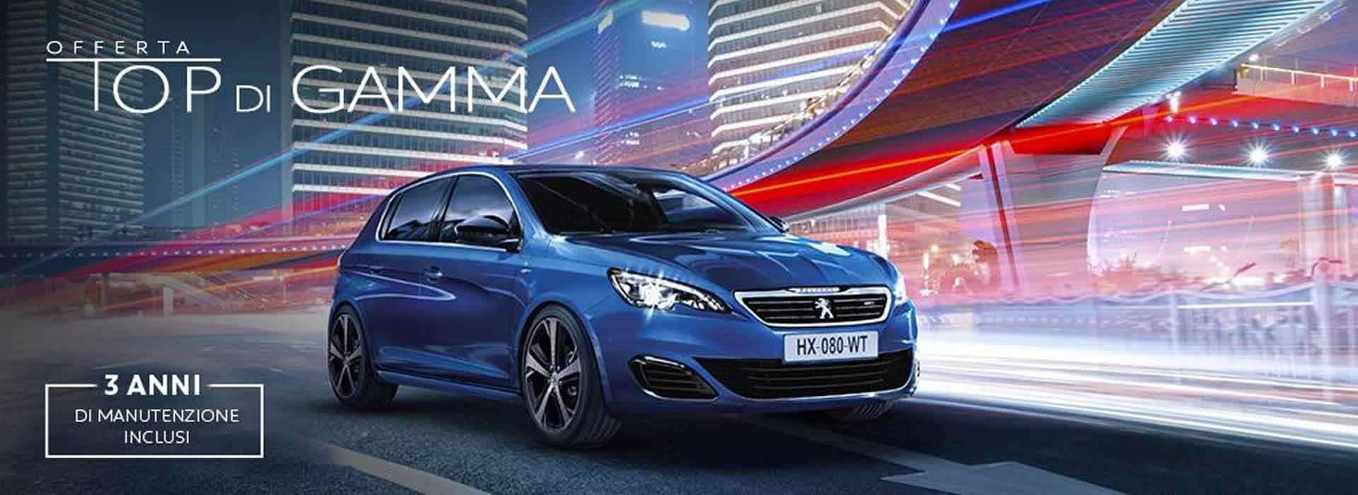 Peugeot 308 nuovo in promozione