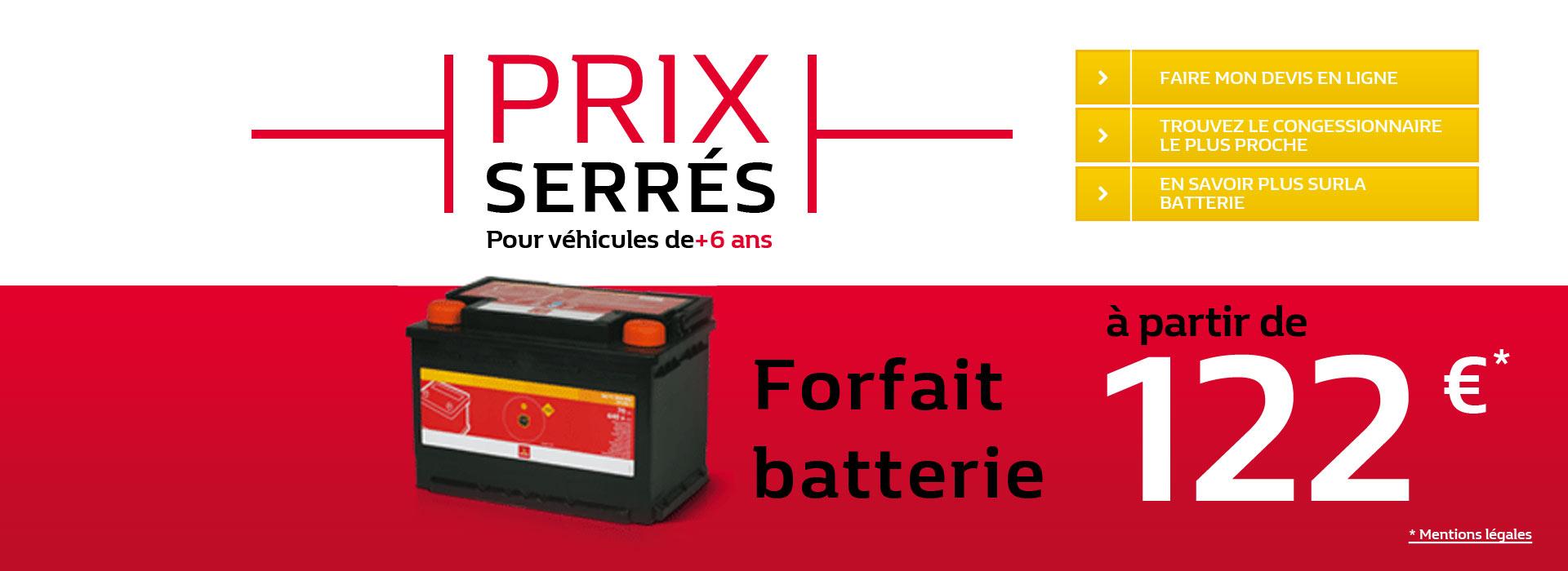 Prix Serrés - Batterie