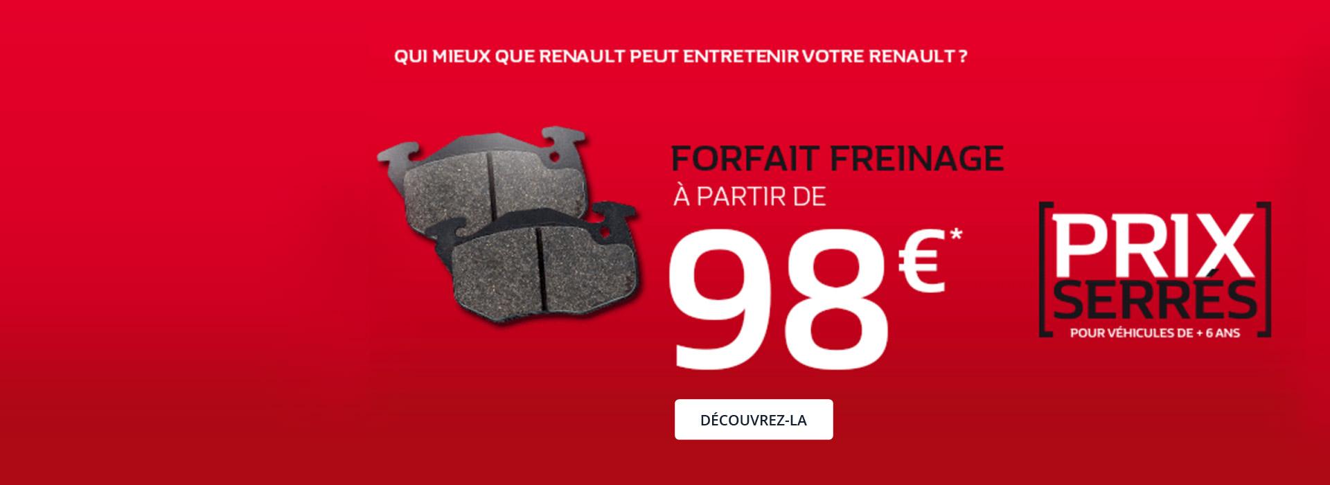 Prix Serrés - Forfait Freinage