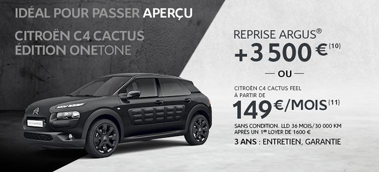 c4 cactus edition onetone promotions chez votre concessionnaire citro n dreux. Black Bedroom Furniture Sets. Home Design Ideas