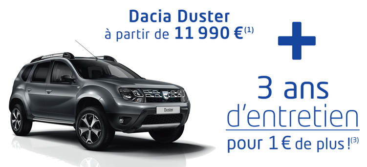 jours malins duster promotions chez votre concessionnaire dacia chartres. Black Bedroom Furniture Sets. Home Design Ideas