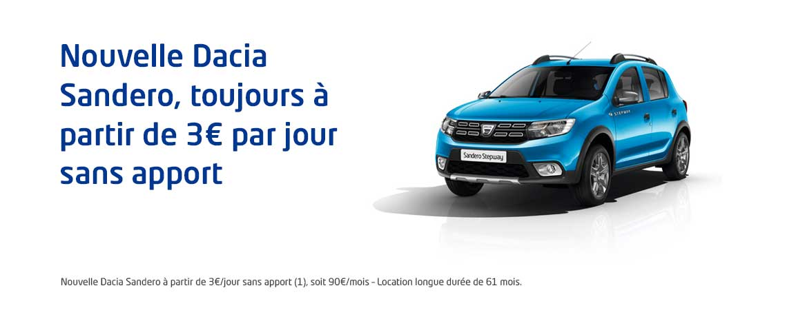nouvelle dacia sandero partir de 3 par jour promotions chez votre concessionnaire dacia metz. Black Bedroom Furniture Sets. Home Design Ideas