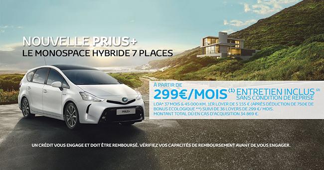 Nouvelle Toyota Prius + A partir de 299€/mois*