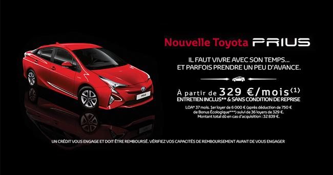 Nouvelle Toyota Prius À partir de 329 € /mois*