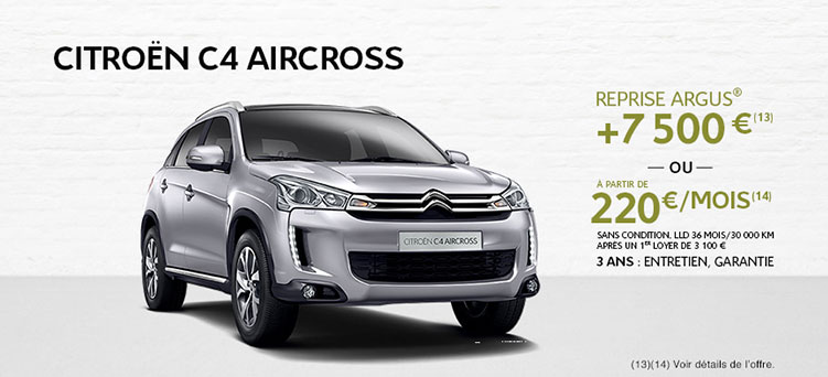 offre citroen c4 aircross promotions chez votre concessionnaire citro n evreux. Black Bedroom Furniture Sets. Home Design Ideas