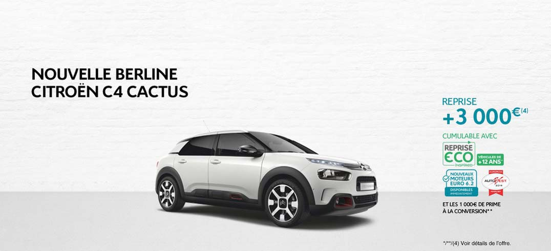 offre citroen c4 cactus promotions chez votre concessionnaire citro n dreux. Black Bedroom Furniture Sets. Home Design Ideas