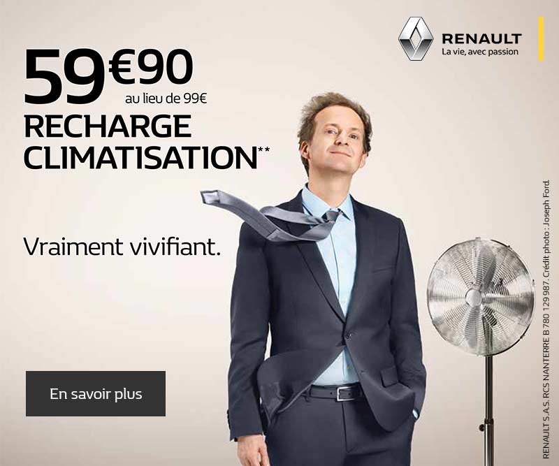 recharge climatisation promotions chez votre concessionnaire renault mantes la ville. Black Bedroom Furniture Sets. Home Design Ideas