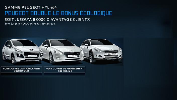 Gamme peugeot hybrid4 peugeot melun for Garage peugeot la defense