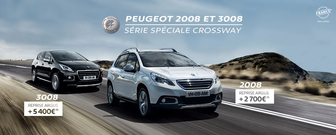 peugeot 2008 peugeot 3008 s rie sp ciale crossway peugeot tours. Black Bedroom Furniture Sets. Home Design Ideas