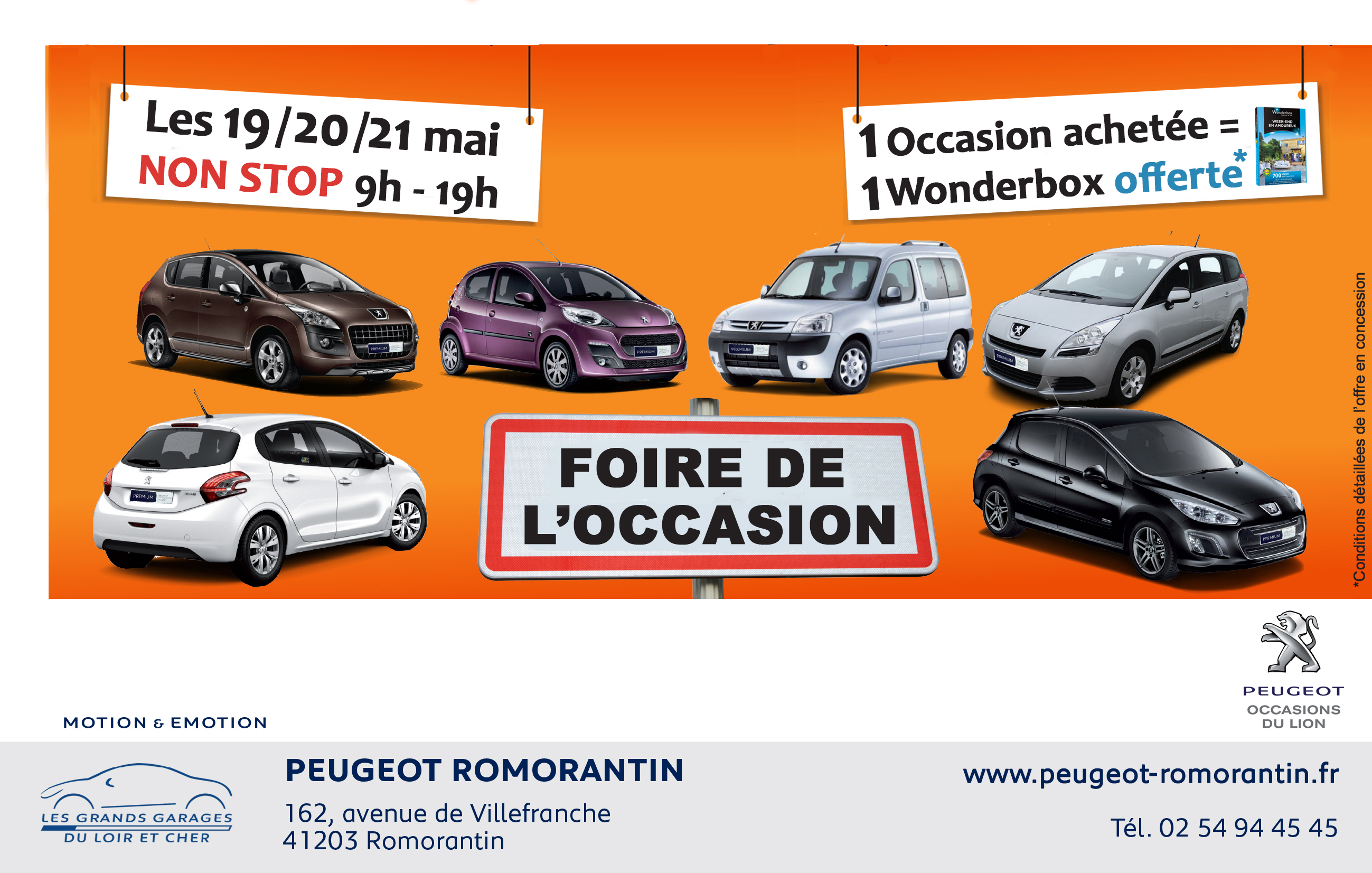 foire de l 39 occasion romorantin les 19 20 et 21 mai peugeot loir et cher blois vend me romorantin. Black Bedroom Furniture Sets. Home Design Ideas