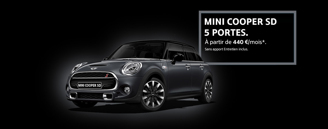 mini cooper sd 5 portes mini store bayern automobiles m rignac. Black Bedroom Furniture Sets. Home Design Ideas