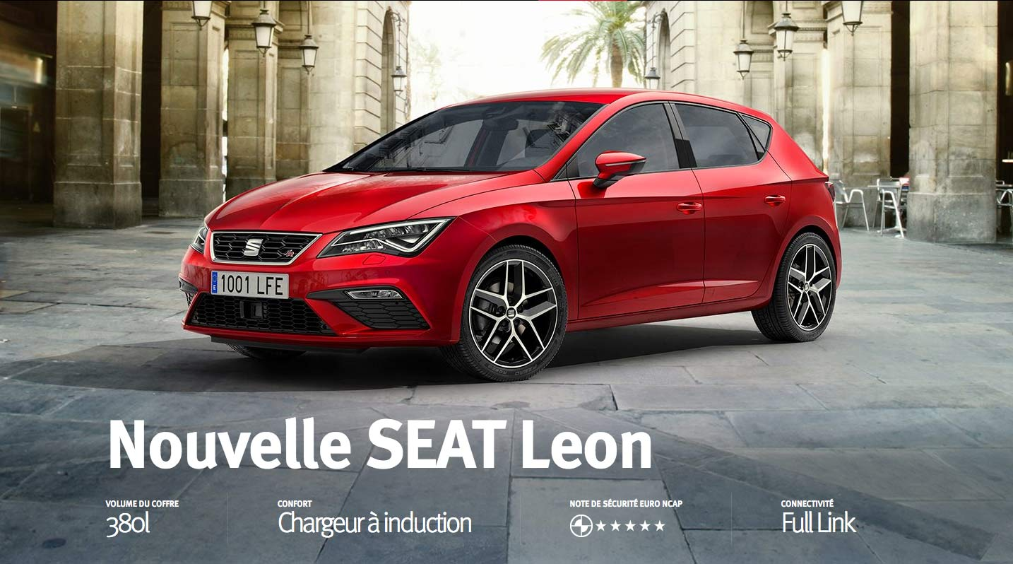 nouvelle seat leon seat valenton. Black Bedroom Furniture Sets. Home Design Ideas