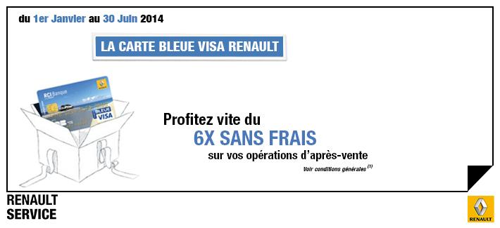 Offre Carte Bleue Visa Renault Renault Chartres