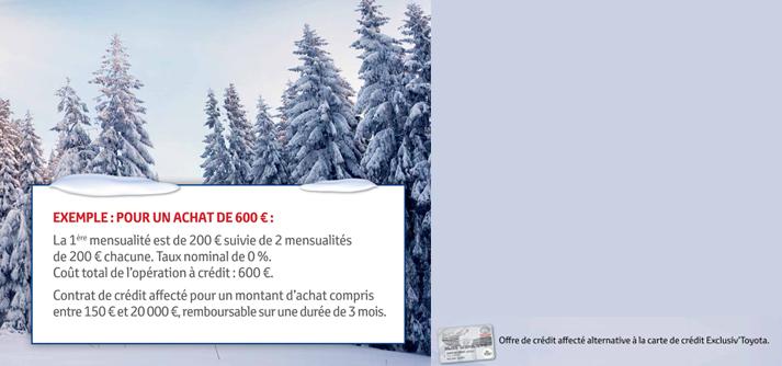Offres hiver toyota facilit de paiement toyota magny - Electromenager facilite de paiement ...