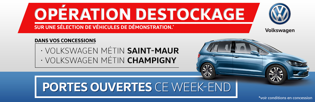 Op ration destockage volkswagen groupe metin for Garage peugeot metin nemours