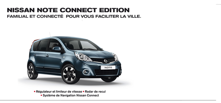 nissan note connect edition nissan chartres. Black Bedroom Furniture Sets. Home Design Ideas
