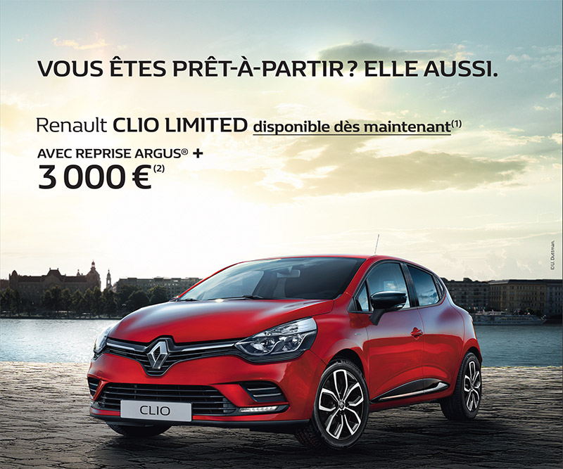promotion renault clio limited groupe schumacher. Black Bedroom Furniture Sets. Home Design Ideas
