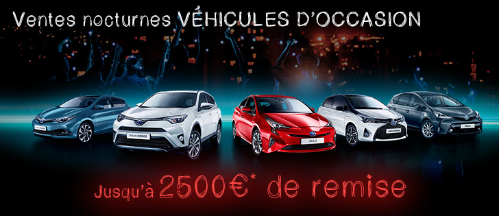 ventes nocturnes v hicules d 39 occasion toyota chartres. Black Bedroom Furniture Sets. Home Design Ideas