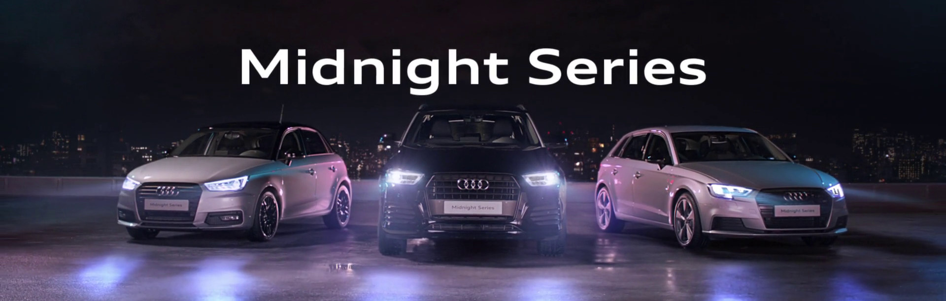 audi midnight series s ries limit es audi a1 a3 et q3 midnight series audi le mans. Black Bedroom Furniture Sets. Home Design Ideas